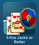 Играть 5 lines Jacks or Better онлайн бесплатно